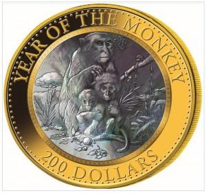 Skarbnica Narodowa moneta Rok Małpy