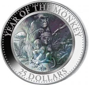 Skarbnica Narodowa moneta Rok Małpy rewers